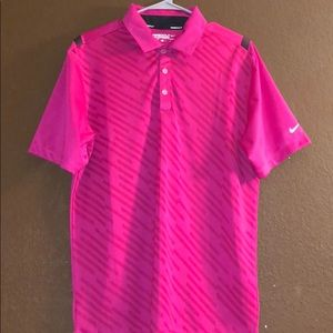 Medium Pink Nike Gold Performance Polo